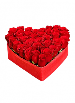 Red Roses Heart Bouquet