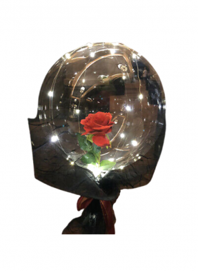 Special Red Rose in Balloon