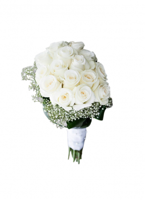 Symbol of Purity White Roses Bouquet