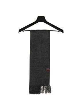 Gift Purewool Plain Muffler Dark Grey