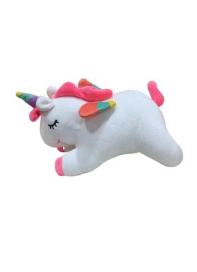Unicorn Sleeping Soft Toy 30 cm White