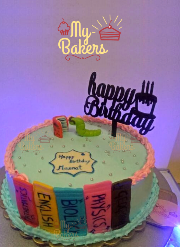 Cake for Bookworm Student