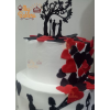 Couple 2 Tier Theme Cake Hand Painted