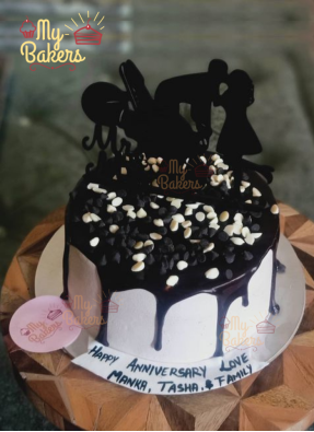 Couple Special Chocolate Dripping Cake