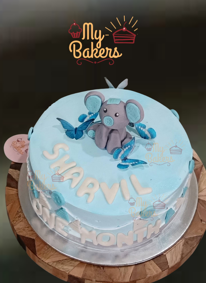 Cute Baby Elephant Cake for Baby