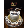 Mustache Theme Cake with 30 Cup Cakes