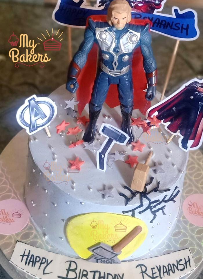 Super Hero Thor Theme Cake