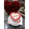 Exclusive Red Heart Flower Cake