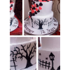 Hand Painting Cake for Anniversary