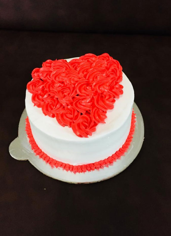 Cake with Flower Heart
