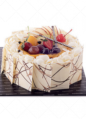 White Forest Mix Fruit Cake