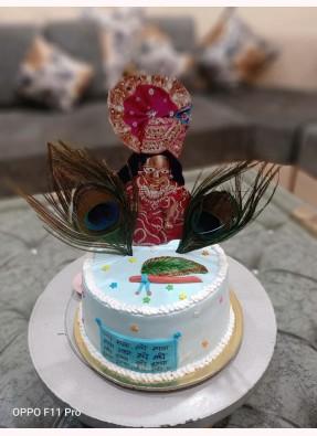 Laddoo Gopal G Theme Cake