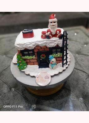 Santa Theme Christmas Cake