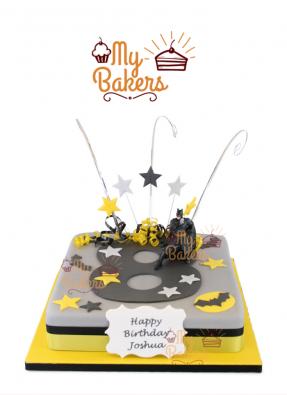 Super Hero Batman Theme Cake