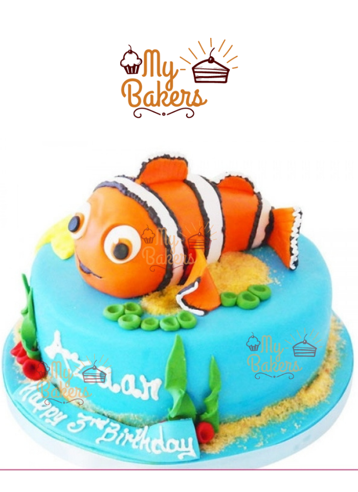 Finding Nemo Themed Fondant Cake