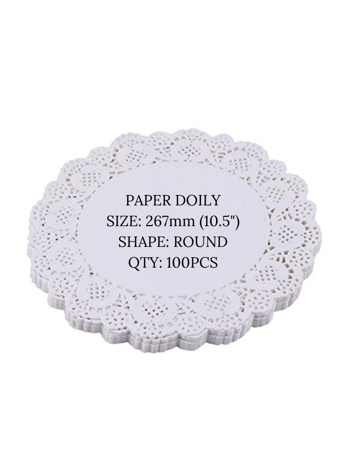 Doily paper 10.5 inch pack of 100