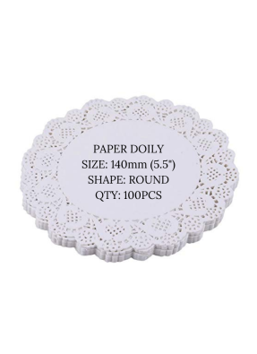 Doily paper 5.5 inch pack of 100
