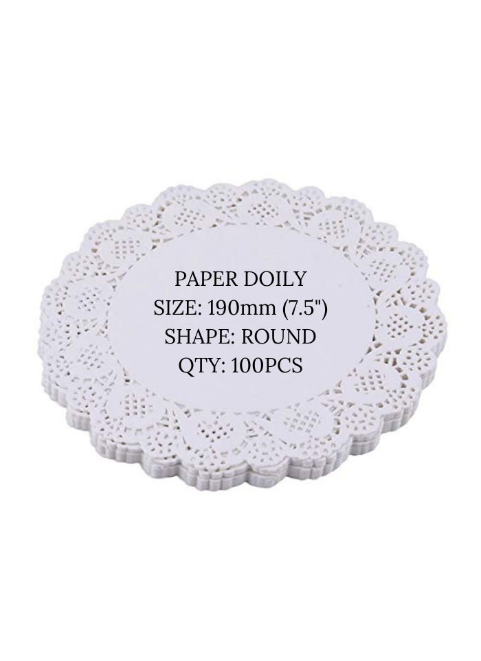 Doily paper 7.5 inch pack of 100