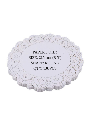 Doily paper 8.5 inch pack of 100