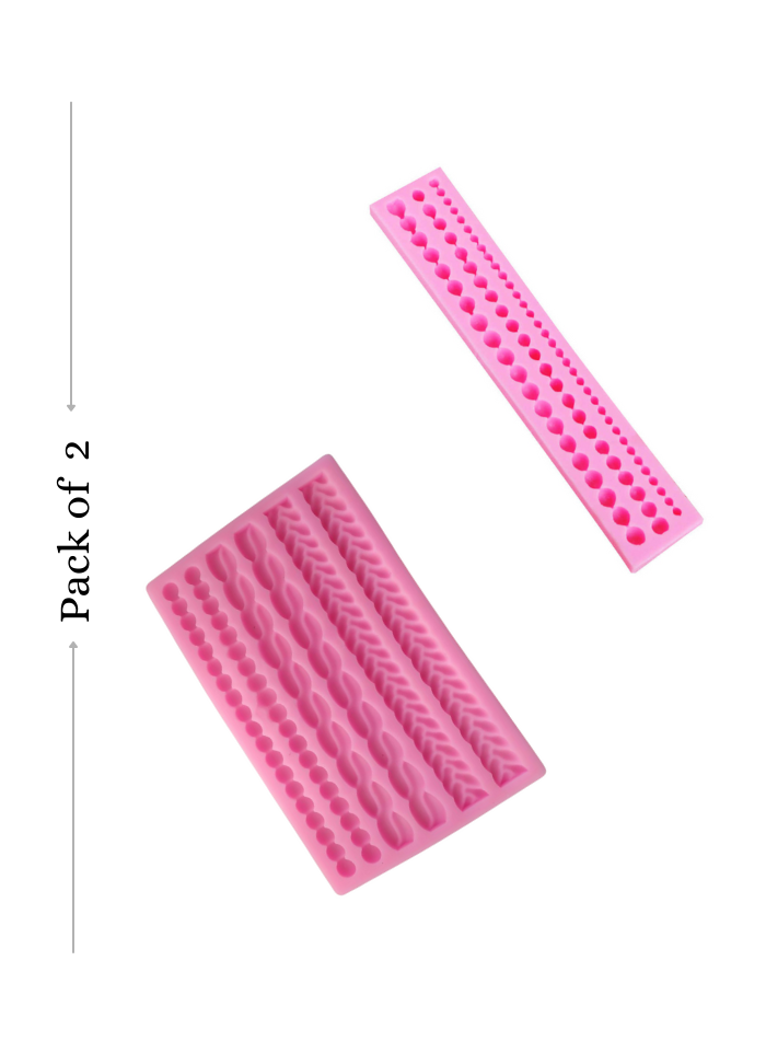 Silicone Marz Mould Bead Rope And Pearls pack of 2