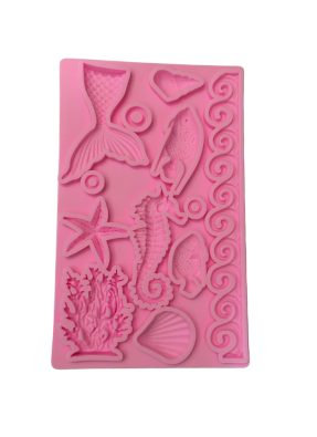 Silicone Marz Mould Sea Animals Shape pack of 1