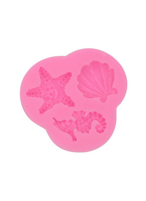 Silicon Marz Mould starfish, Sea horse, shell pack of 1