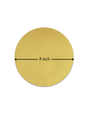 Cake Base Round 20 Pieces Golden 8 inch Pack of 1