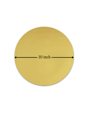 Cake Base Round 20 Pieces Golden 10 inch Pack of 1