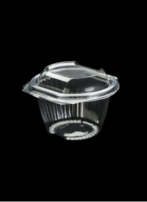 Food Packaging Hinge Conatiner 3 inch Transparent pack of 10