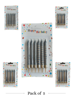 Black Golden candle 5 packets 6 Pieces per packet pack of 1