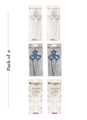 Fancy candle assorted 6 packets as per image pack of 1