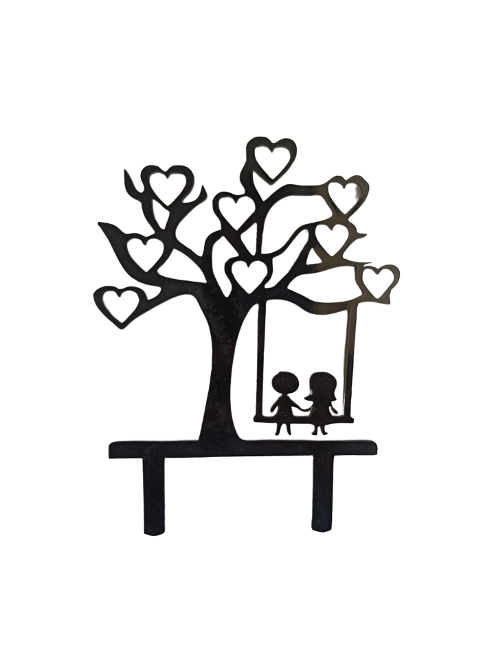Friendship Tree Black Acrylic Topper 6 inch Pack of 1