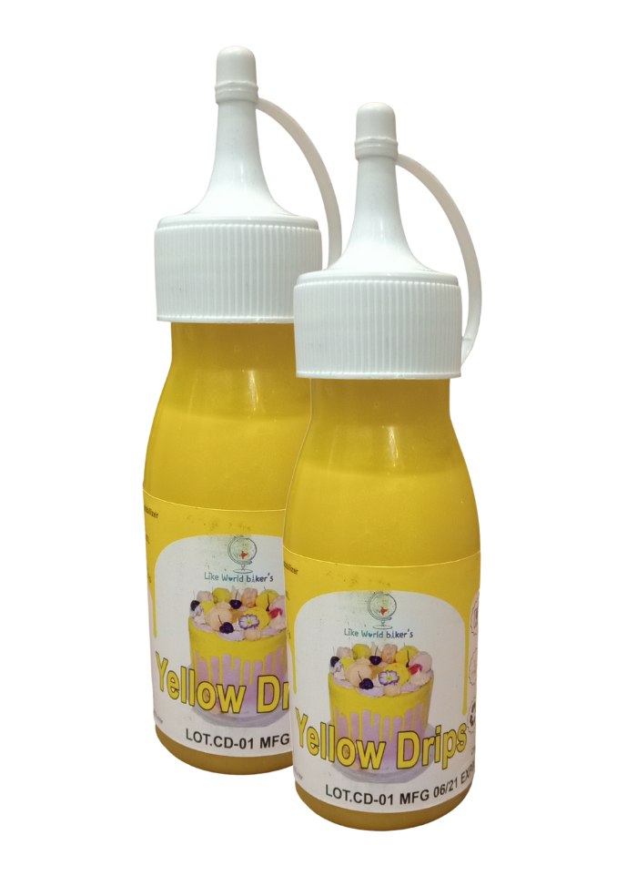 Cake Drips Color Yellow pack of 2