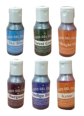 Food Gel Assorted Color Pack of 6