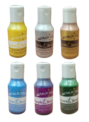 Metalic Assorted Color Pack of 6