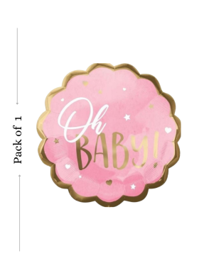 Oh baby Pink foil balloon 18 inch pack of 1