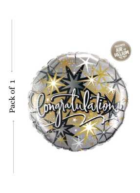 Congratulations foil balloon 18 inch pack of 1