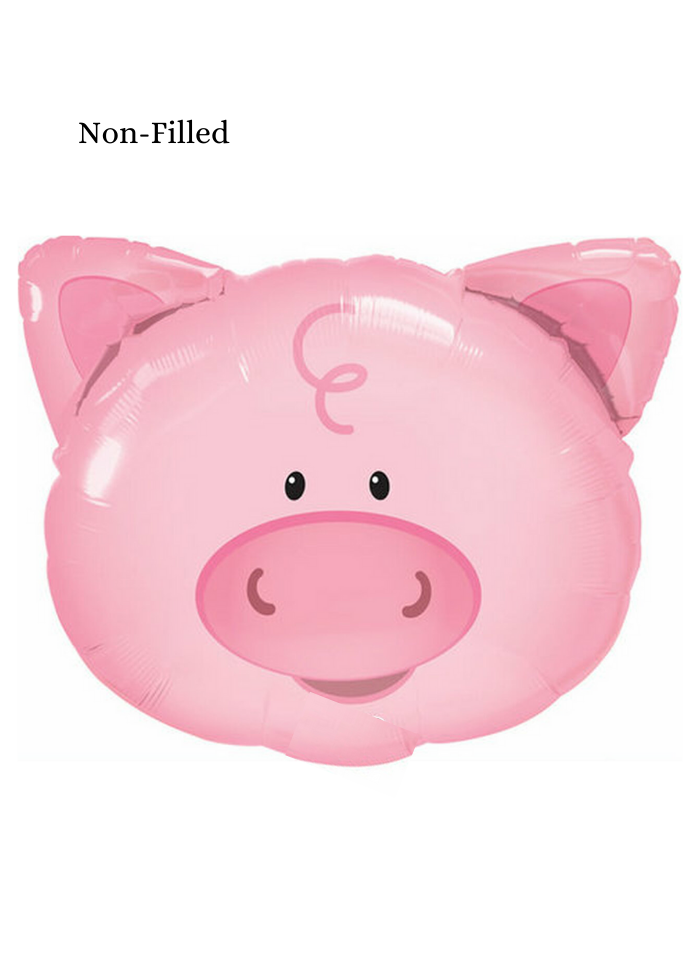 Baby Pig Face Foil Balloon 18 inch Pink