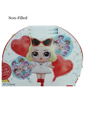 Beauty Girl 5 Piece Set Foil Balloon Assorted