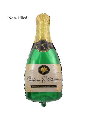 Chateau Celebration Bottle Shape Foil Balloon 18 inch Green
