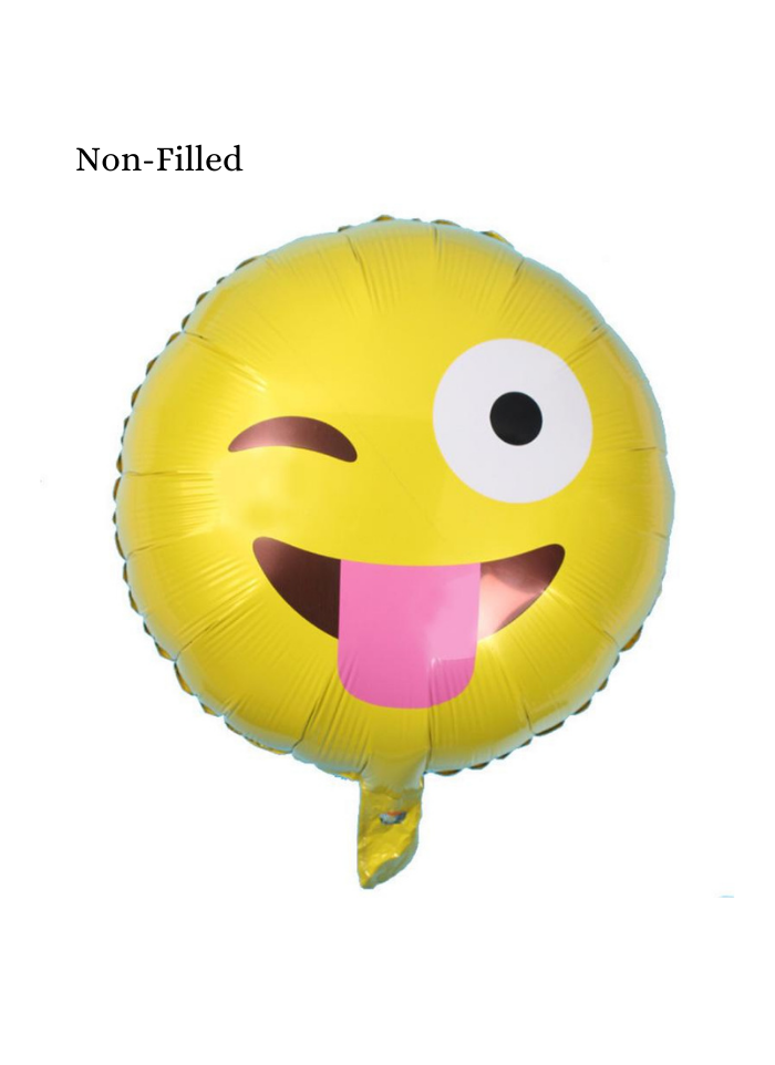 Emoji With Blink Eye Foil Balloon 18 inch Yellow
