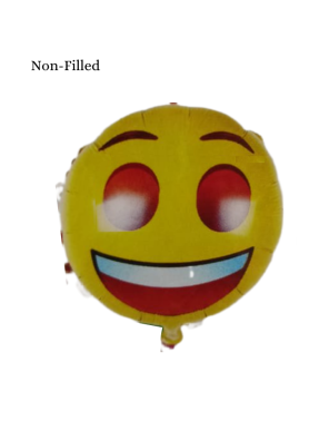 Emoji With Smile Foil Balloon 18 inch Yellow