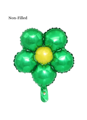 Five Circles With Stone Foil Balloon 18 inch Green