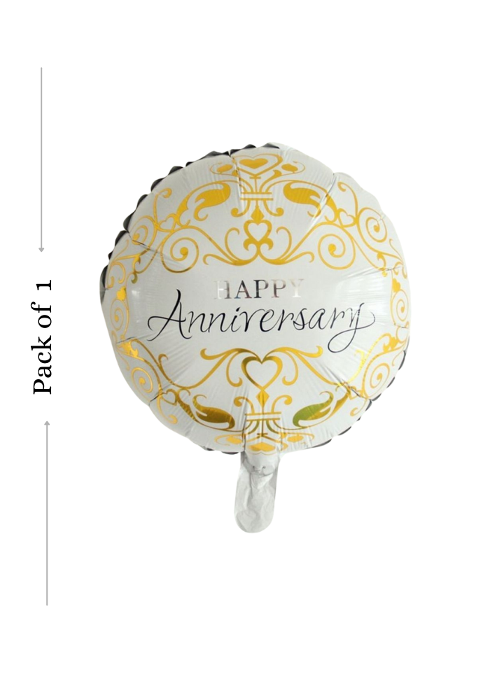 Happy Anniversary foil balloon 18 inch pack of 1