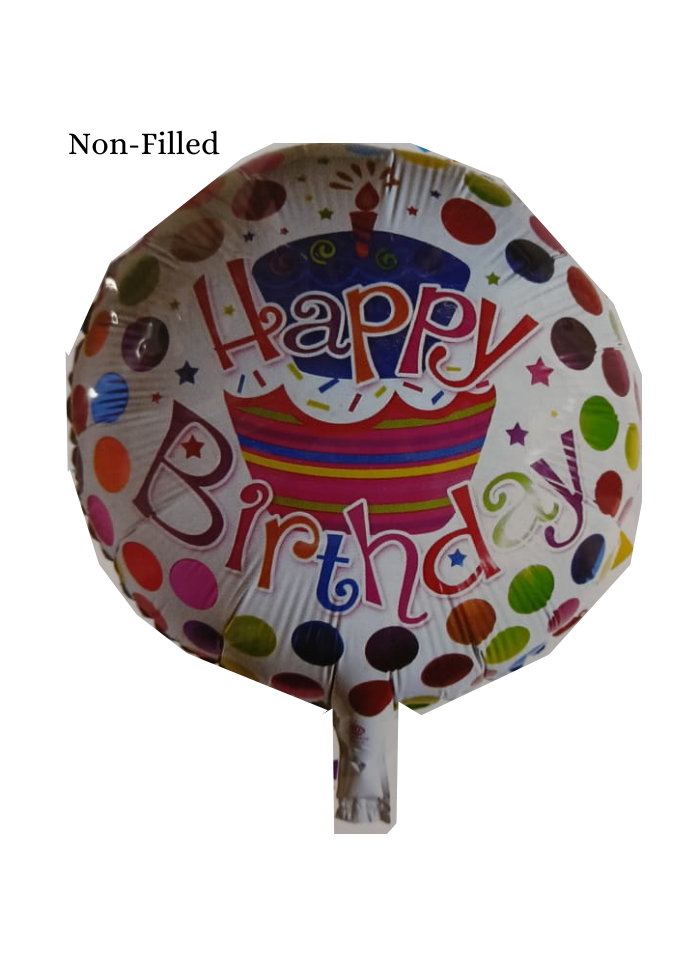 Happy Birthday Colorful Dots Printed Foil Balloon 18 inch Multi Color