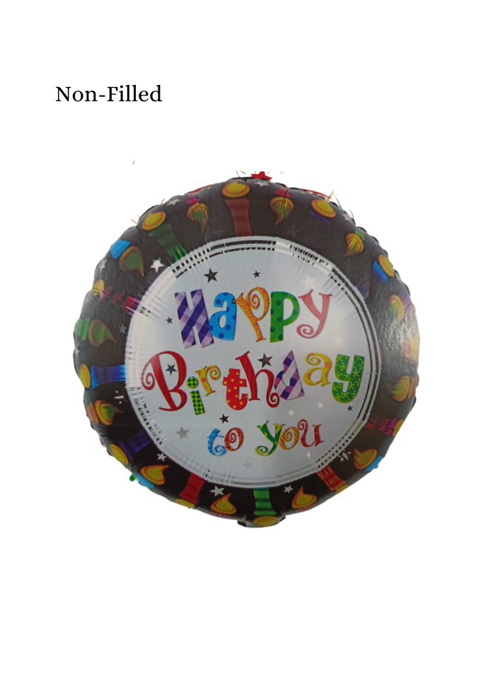 Happy Birthday To You Foil Balloon 18 inch Multi Color