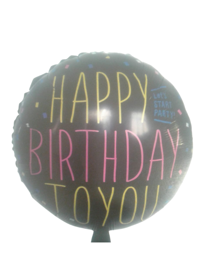 Happy Birthday To You round foil balloon 18 inch pack of 1