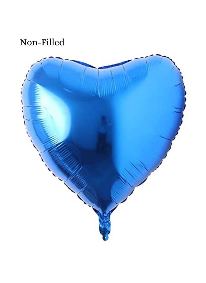 Heart Shape Foil Balloon 18 inch Blue