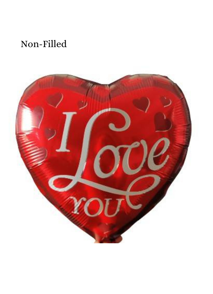 I Love You Heart Shape Foil Balloon 32 inch Red