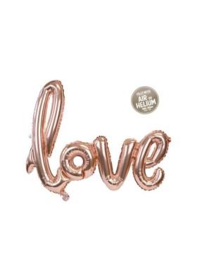 Love script foil balloon pack of 1